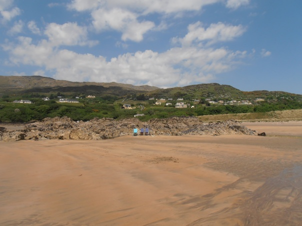 beach chairs, Fintra, Donegal