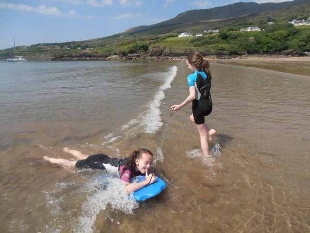 fun with a body board, Donegal