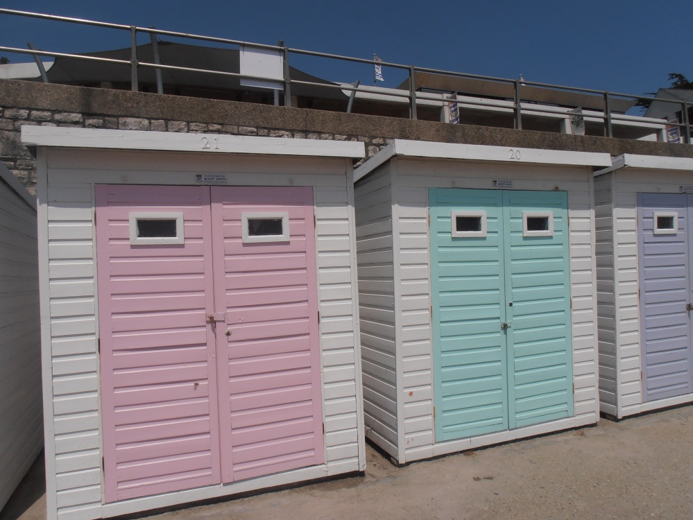beach huts, Lyme Regis, Dorset