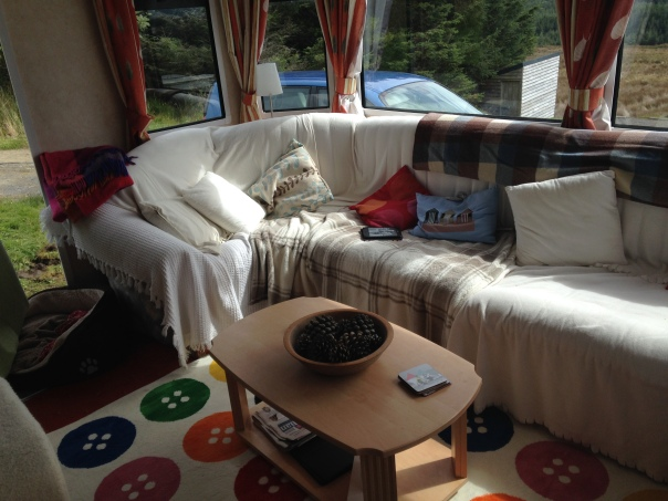 caravan seats, cushions, throws, IKEA