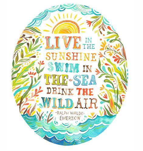 sunshine, sea, air