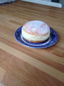 jam doughnut, donut, sticky bun
